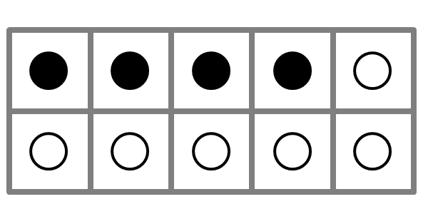 large ten frame showing four