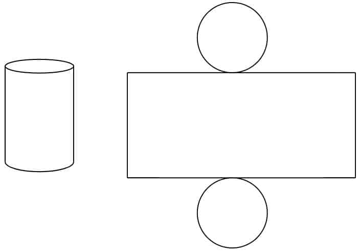3D representation of a cylinder