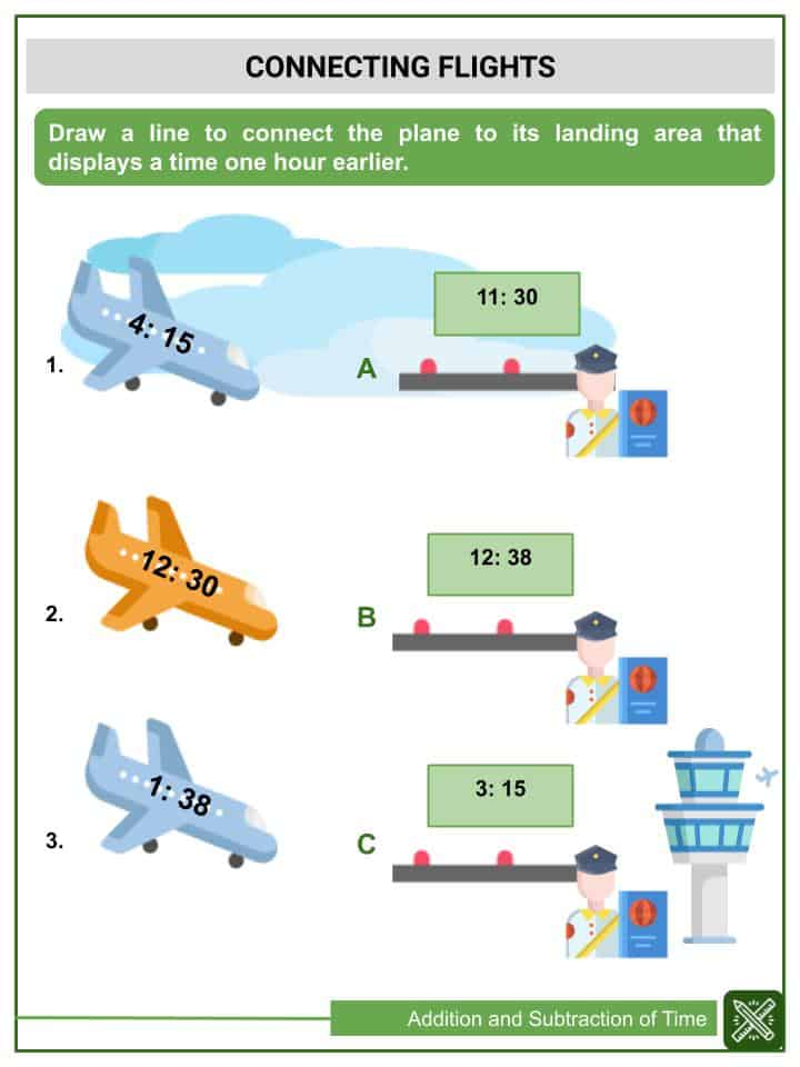 Addition and Subtraction of Time Worksheets(3)