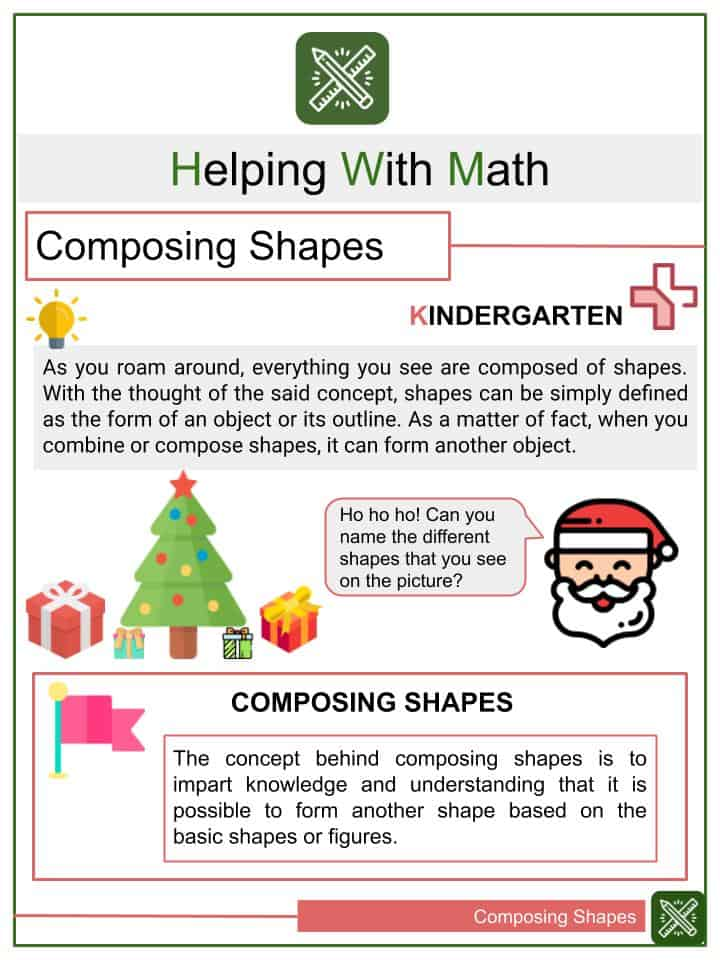 Composing Shapes Worksheets