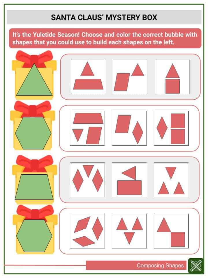Composing Shapes Worksheets(3)