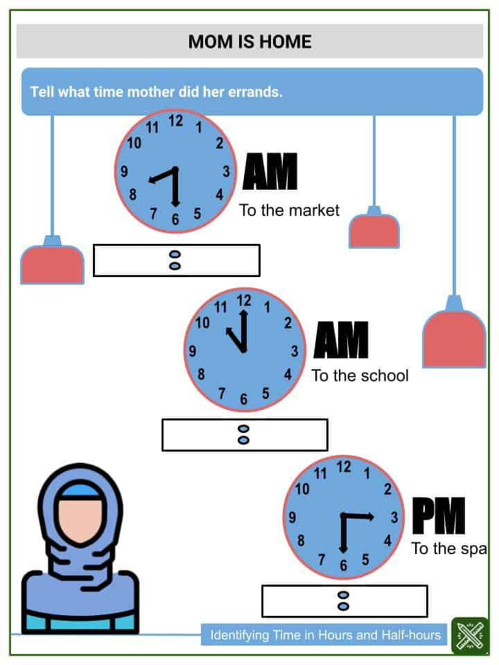 Identifying Time in Hours and Half-hours(3)
