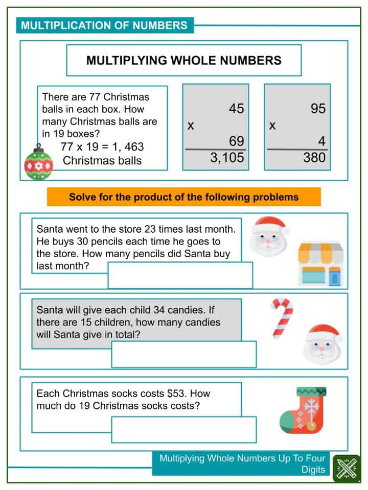 Multiplying Whole Numbers Up To Four Digits Worksheets(1)