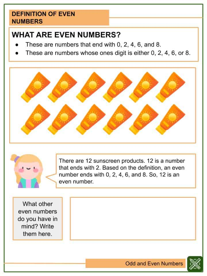 Odd and Even Numbers Worksheets(2)