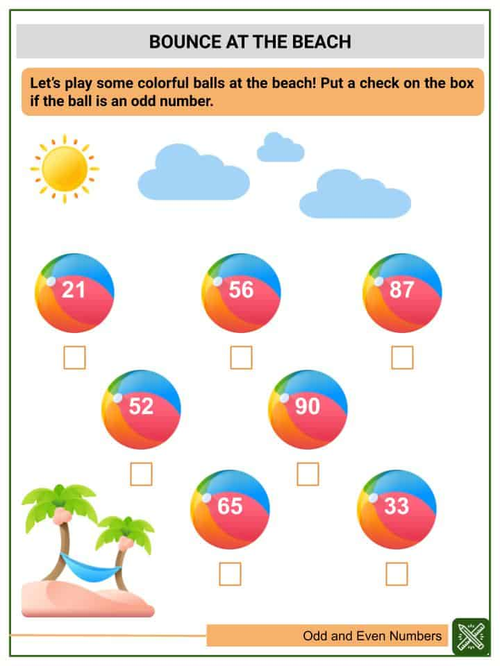 Odd and Even Numbers Worksheets(3)