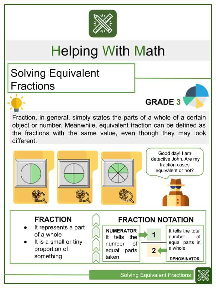 Solving Equivalent Fractions Worksheets