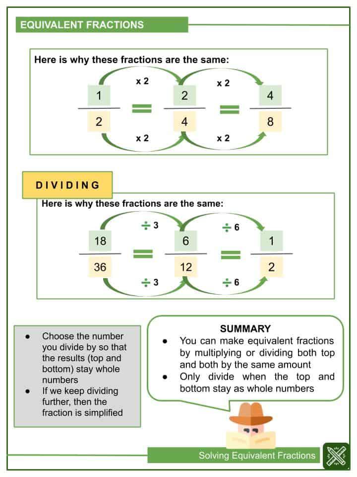 Solving Equivalent Fractions Worksheets(2)
