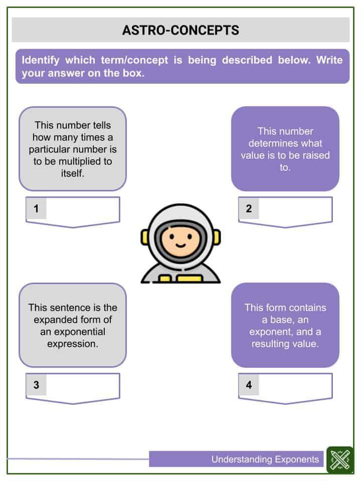 Understanding Exponents Worksheets(3)
