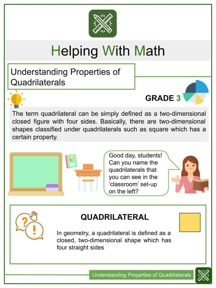 Understanding Properties of Quadrilaterals Worksheets