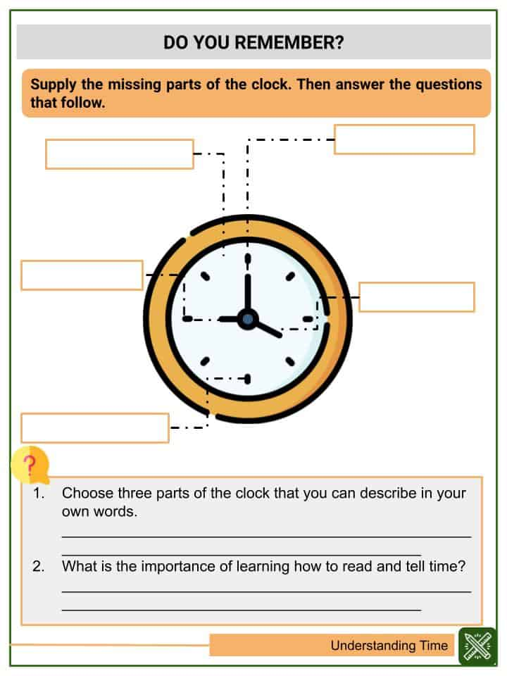 Understanding Time Worksheets(3)