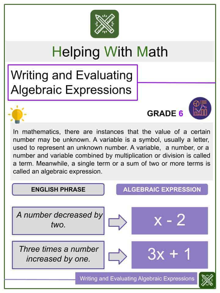 6th Grade Worksheets & Other Resources Helping With Math