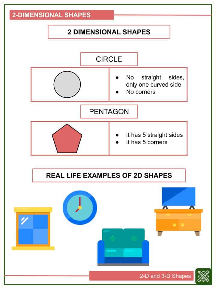 2-D and 3-D Shapes Worksheets(2)