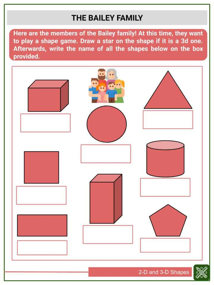 2-D and 3-D Shapes Worksheets(3)