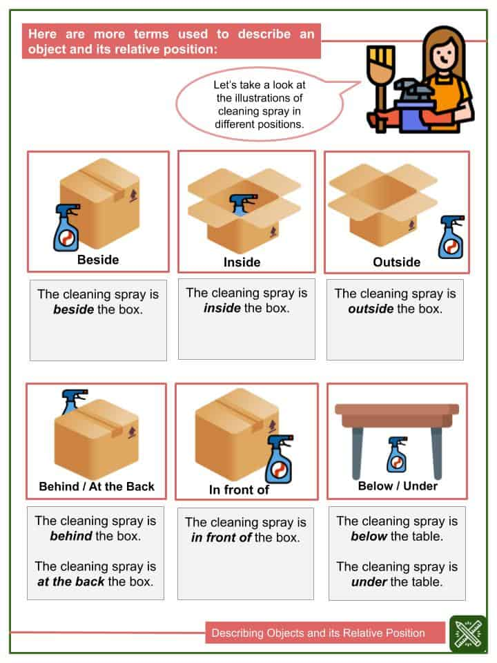 Describing Objects and its Relative Position Worksheets(1)