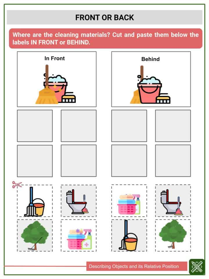 Describing Objects and its Relative Position Worksheets(3)