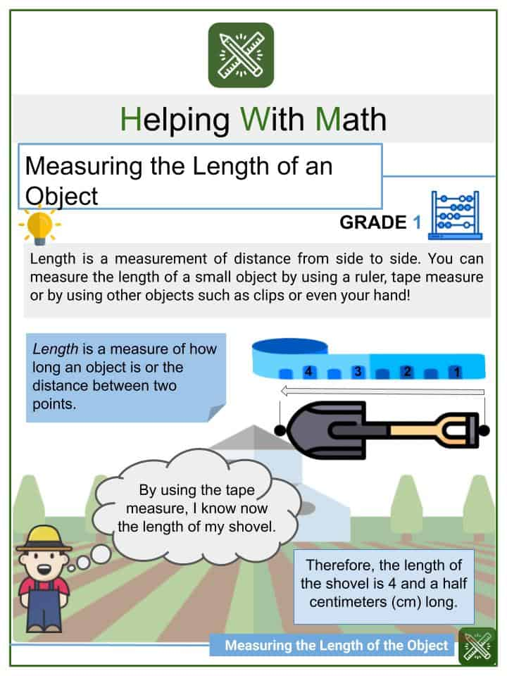 Measuring the Length of an Object Worksheets