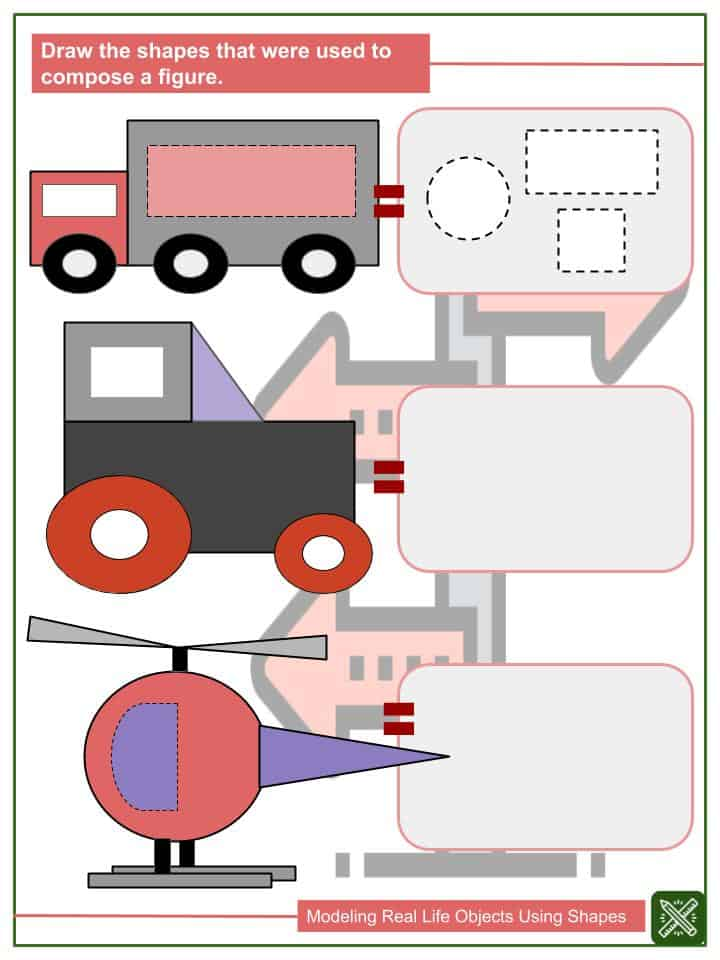 Modeling Real Life Objects Using Shapes Worksheets(2)