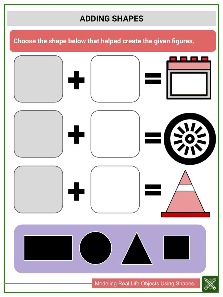 Modeling Real Life Objects Using Shapes Worksheets(3)