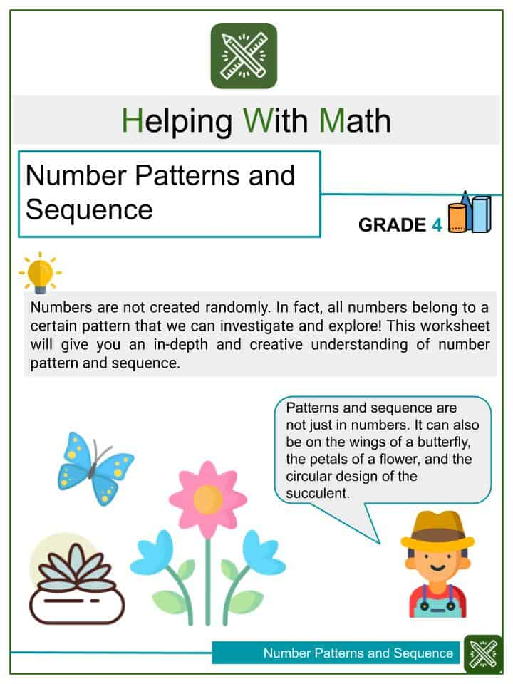 Number Patterns and Sequence Worksheets