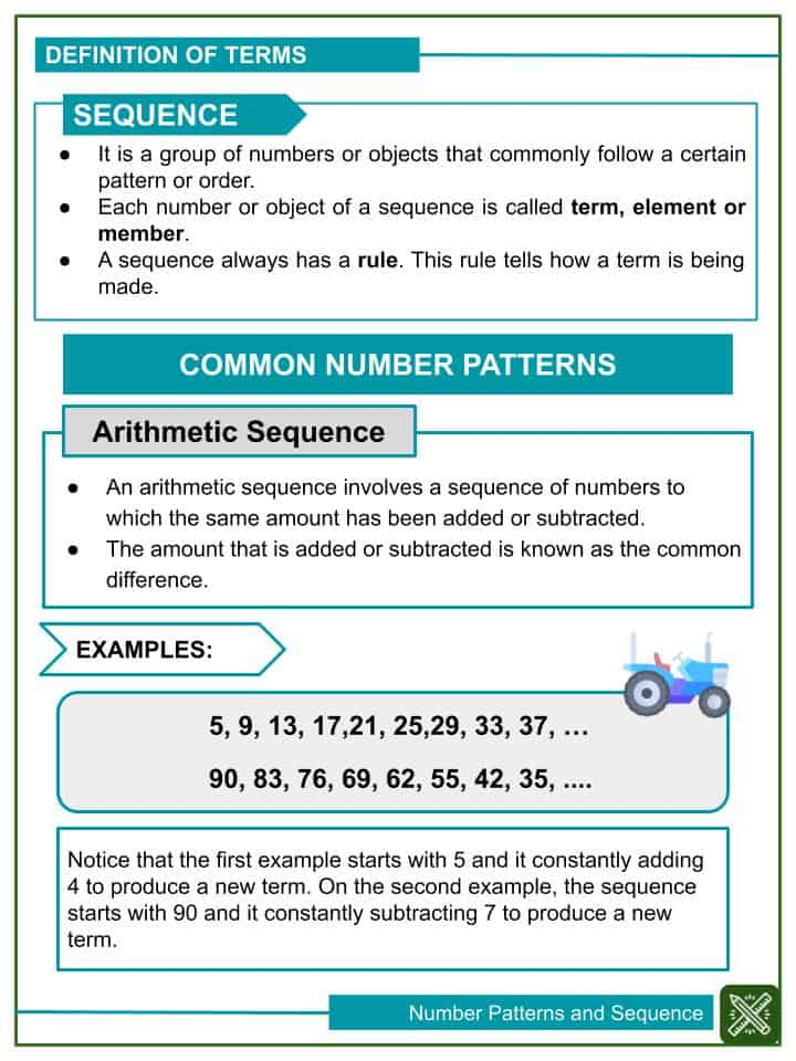 Number Patterns and Sequence Worksheets(1)