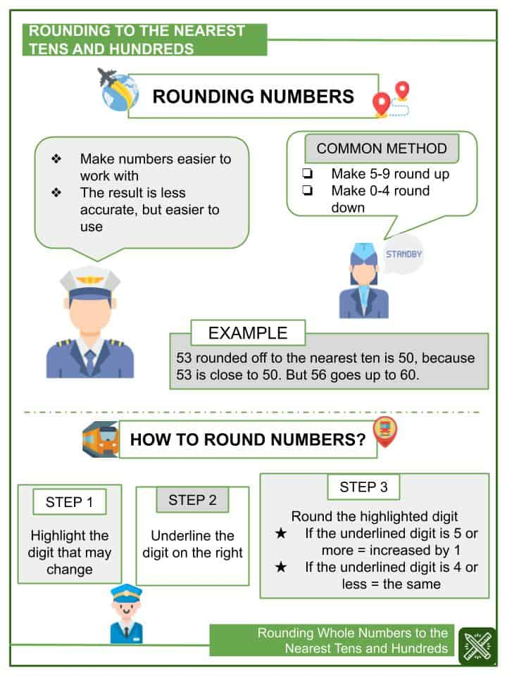 Rounding Whole Numbers to the Nearest Tens and Hundreds Worksheets(1)