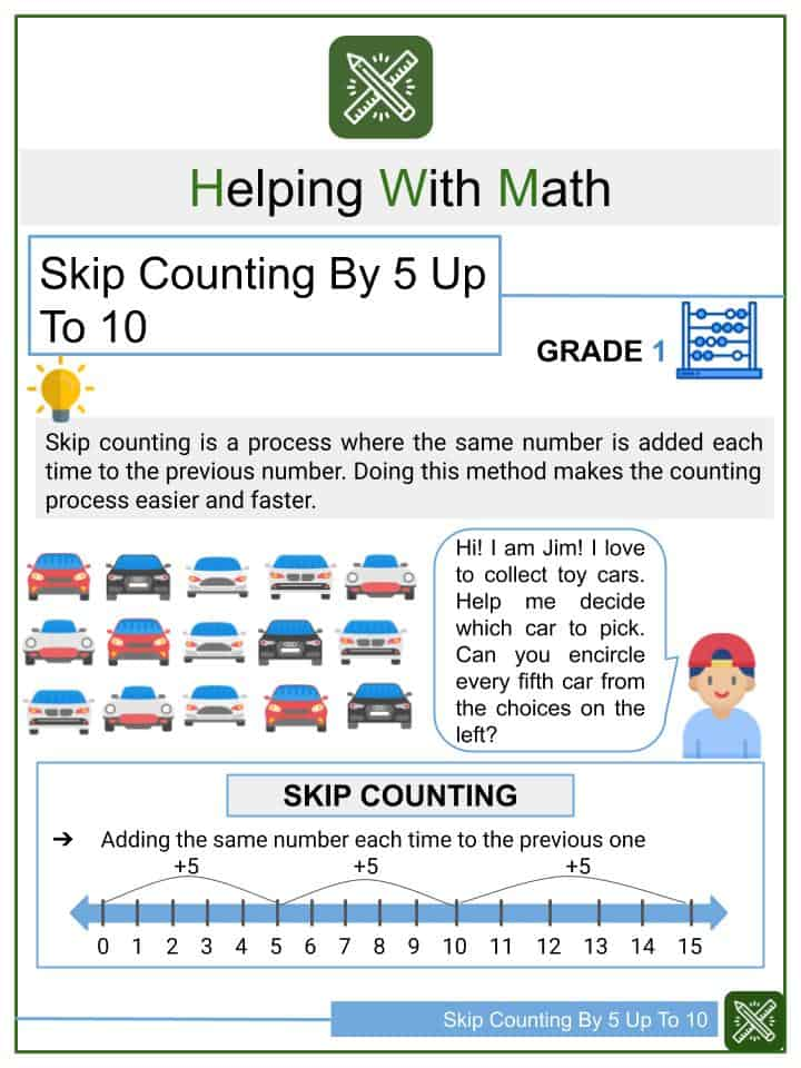 Skip Counting By 5 Up To 10 Worksheets