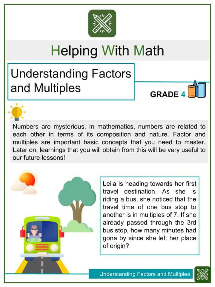 Understanding Factors and Multiples Worksheets