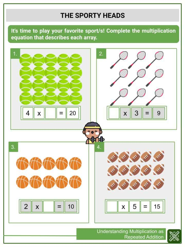 Understanding Multiplication as Repeated Addition Worksheets(3)