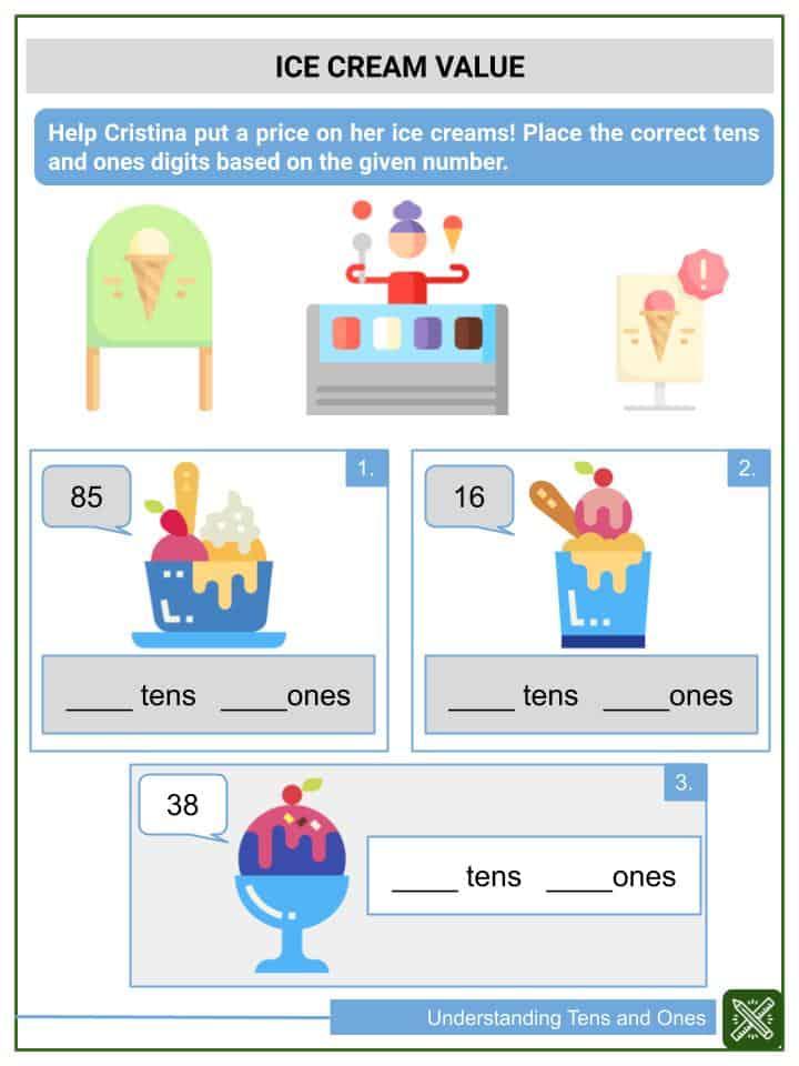 Understanding Tens and Ones Worksheets(3)