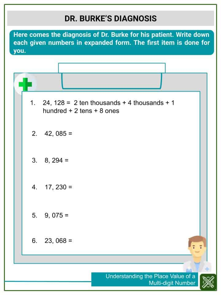 Understanding the Place Value of a Multi-digit Number Worksheets(3)