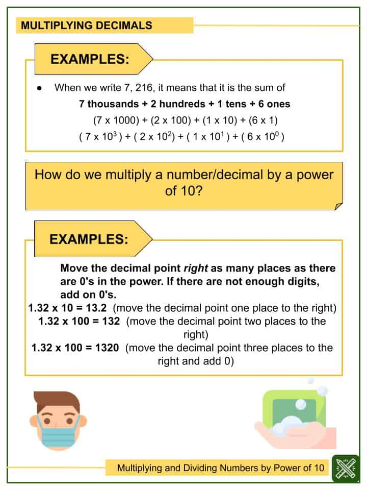 Multiplying and Dividing Numbers by Power of 10 Worksheets(2)