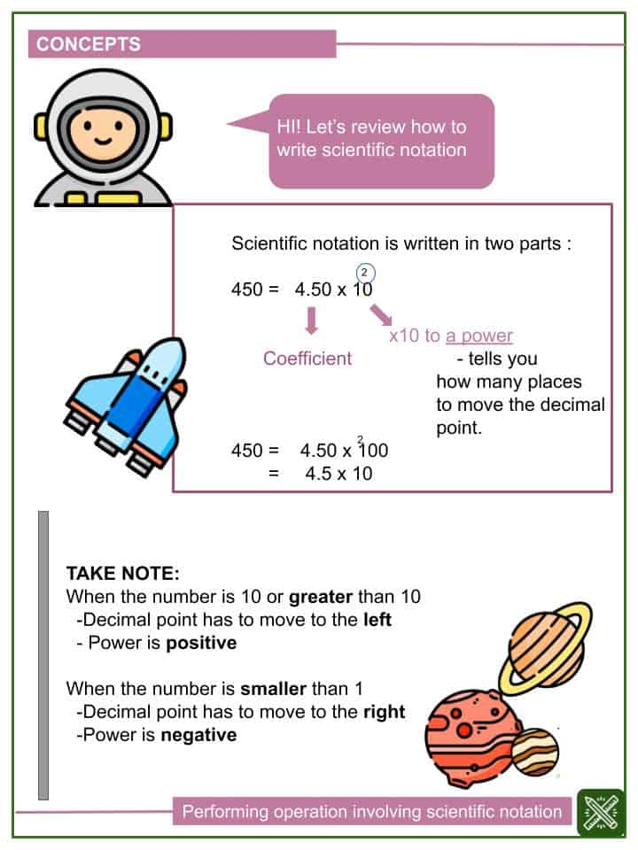 Performing Operations using Scientific Notation Worksheet (1)
