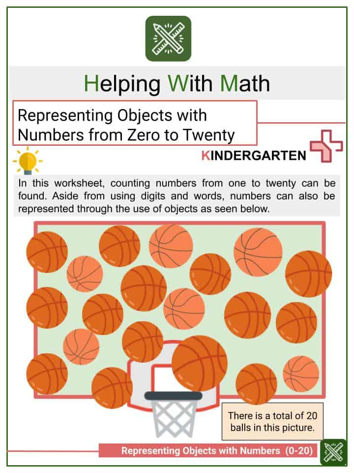 Representing Objects with Numbers from 0-20