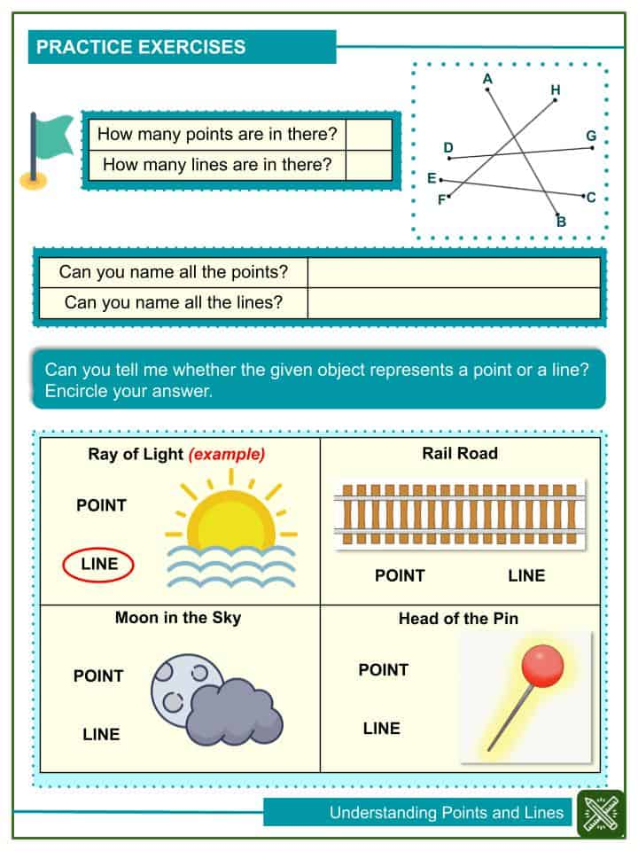 Sample of Understanding Points and Lines Worksheets (2)