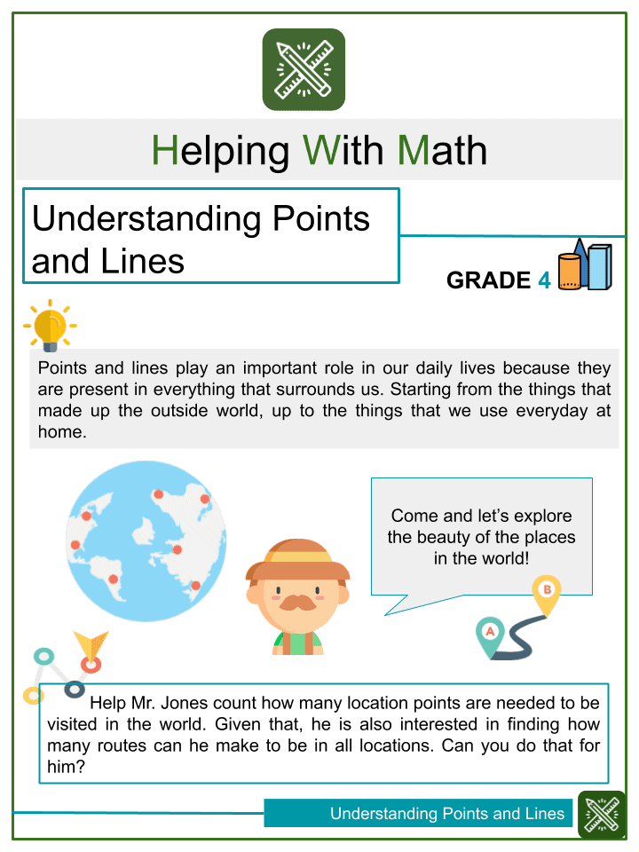 Sample of Understanding Points and Lines Worksheets
