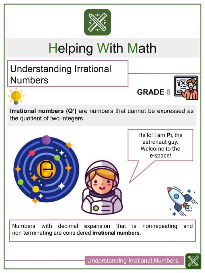 _Understanding Irrational Numbers Worksheets