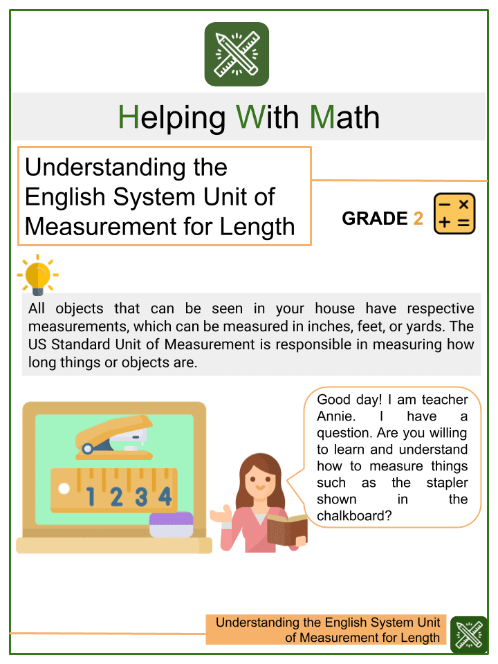 Understanding the English System Unit of Measurement for Length Worksheets