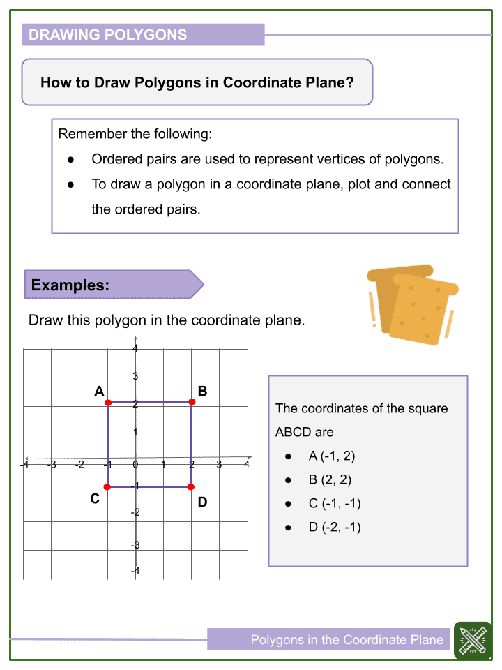 Polygons in the Coordinate Plane Worksheets (1)