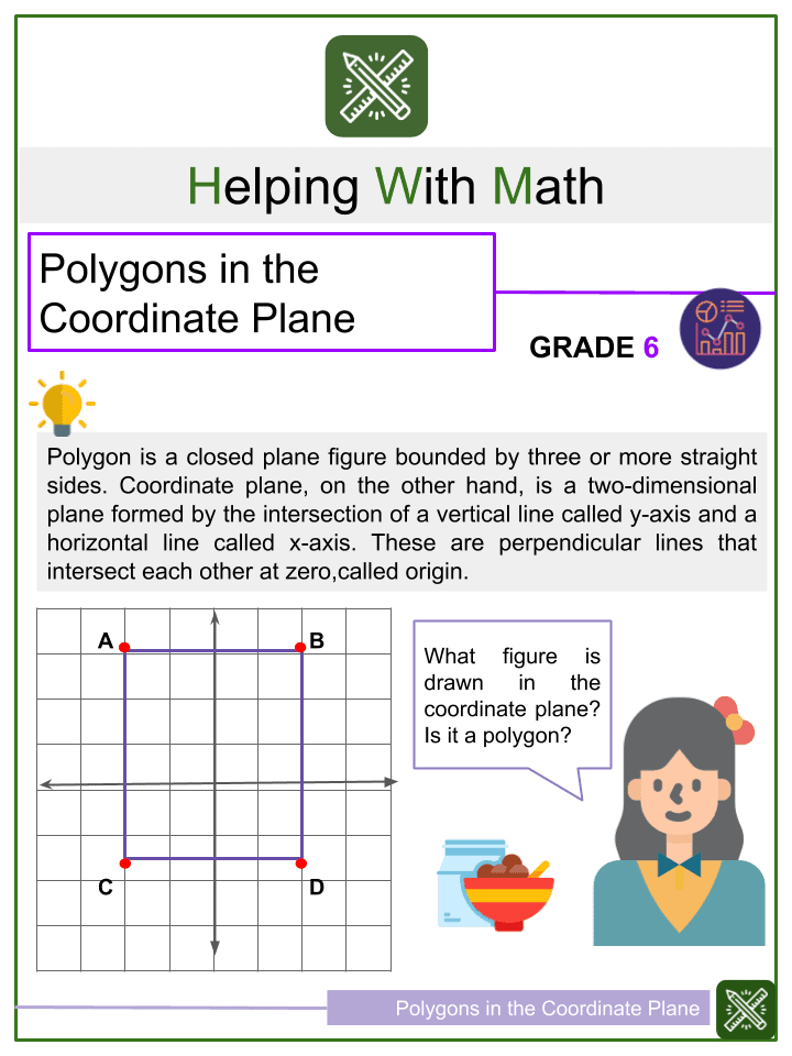 Polygons in the Coordinate Plane Worksheets