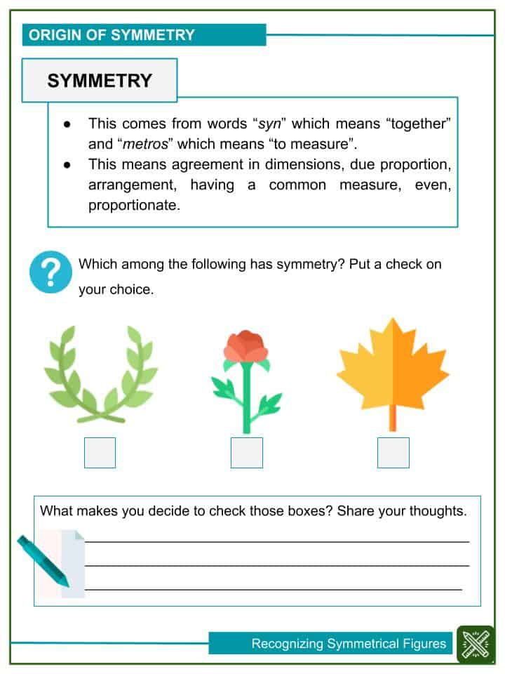 Recognizing Symmetrical Figures Worksheets (1)