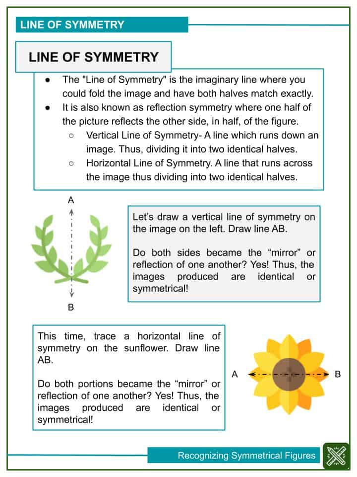 Recognizing Symmetrical Figures Worksheets (2)