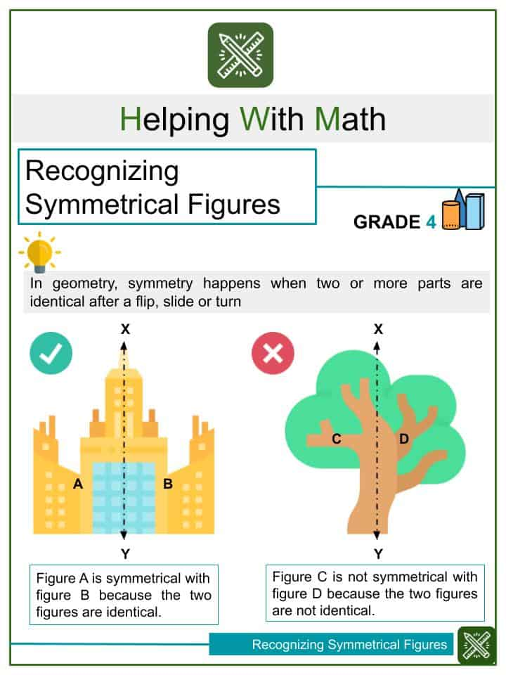 Recognizing Symmetrical Figures Worksheets