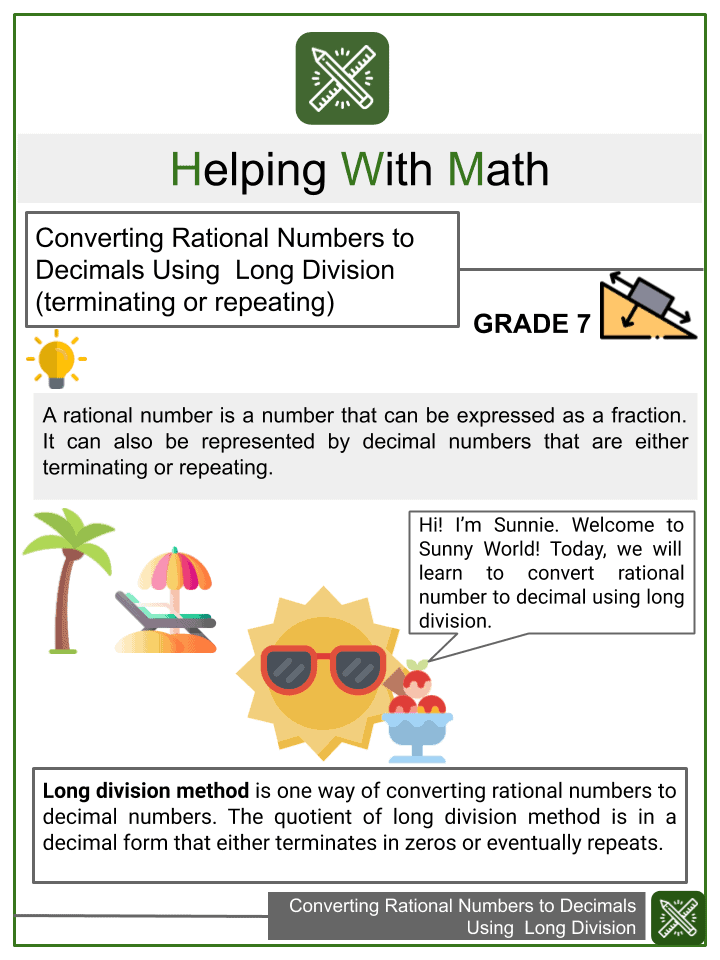 Sample of Converting Rational Numbers to Decimals Using Long Method