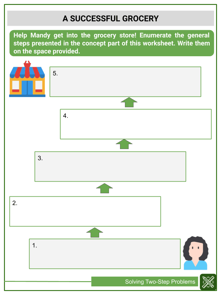 Solving Two-Step Problems Worksheets (3)