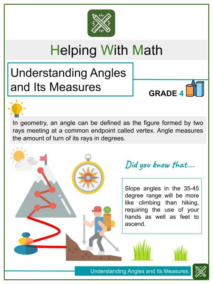 Understanding Angles and Its Measures Worksheets