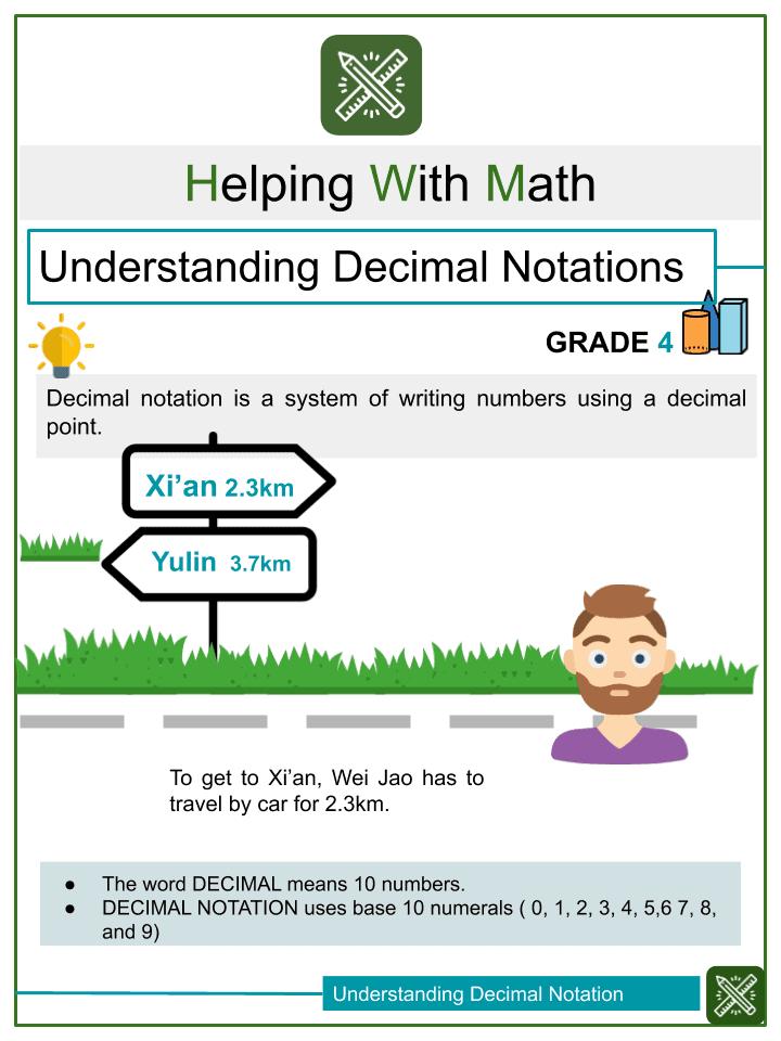 Understanding Decimal Notations Worksheets