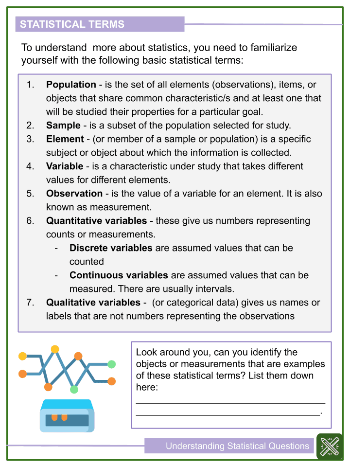 Understanding Statistical Questions Worksheets (2)
