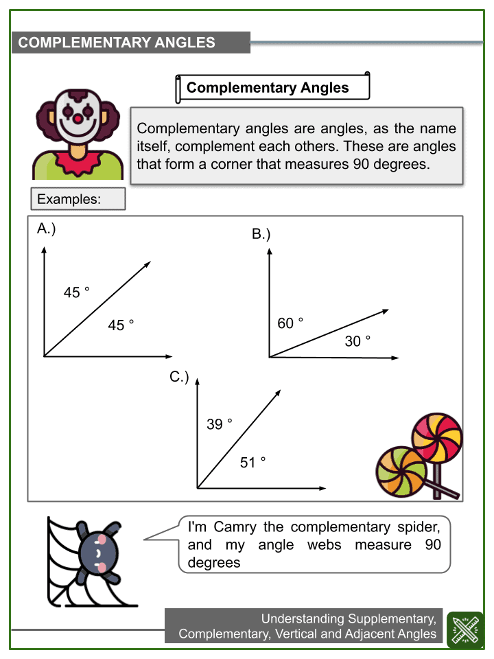 Jmap Worksheets By Topic Angles Complementary Manual Guide