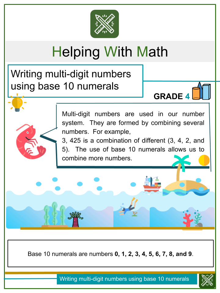Writing Multi Digit Numbers using Base 10 numerals
