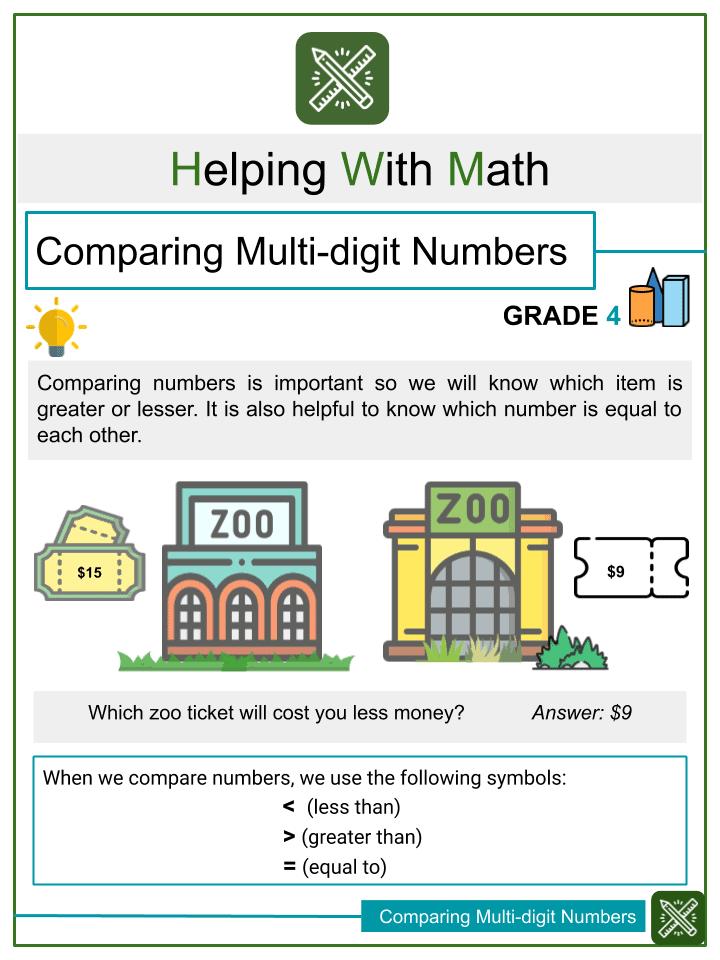 Comparing Multi-digit Numbers